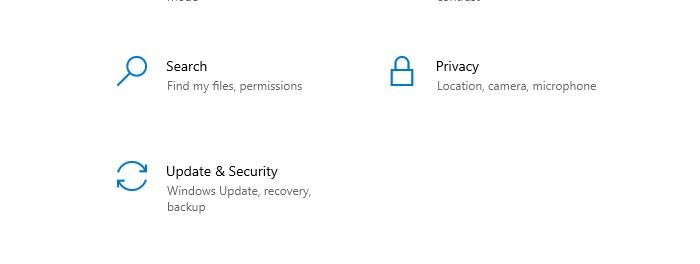 update & security