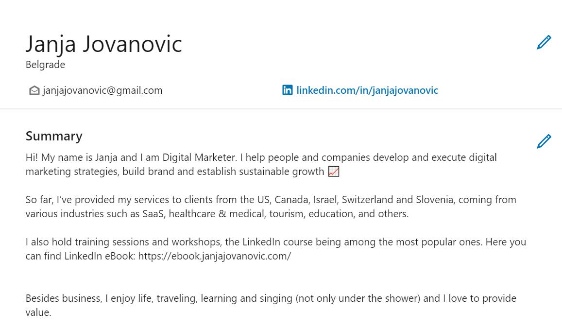Kreiranje CV-a iz Linkedina