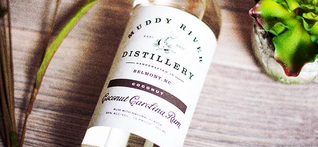Bottle of Coconut Carolina Rum by Muddy River Distillery