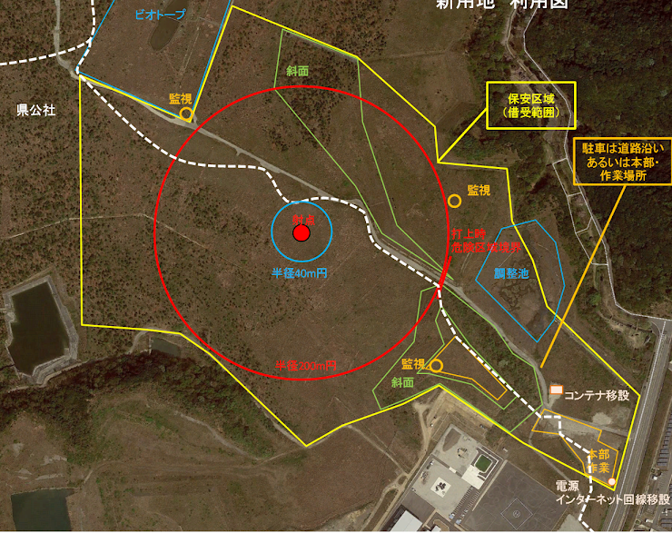 ロケット実験射場見取り図