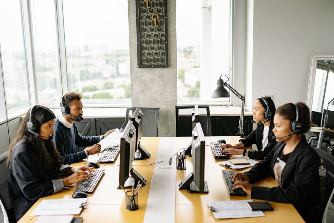 Photo of Busy Working Call Center Agents