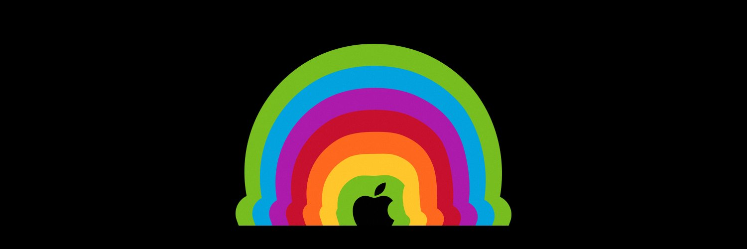 A new multi-color Apple brand image.
