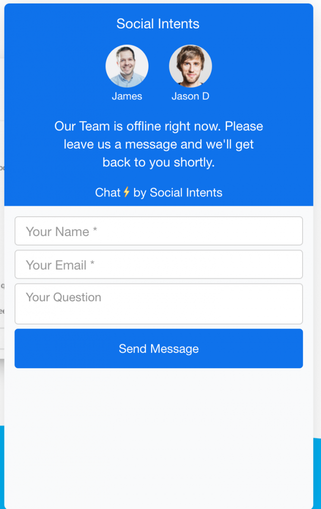 Live chat with MS Teams.
