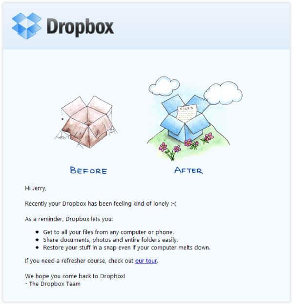 exemplos de e-mails marketing