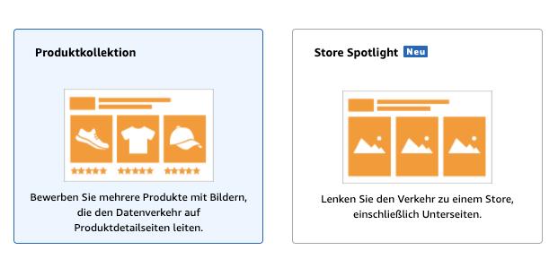 Amazon PPC Anzeigenformate