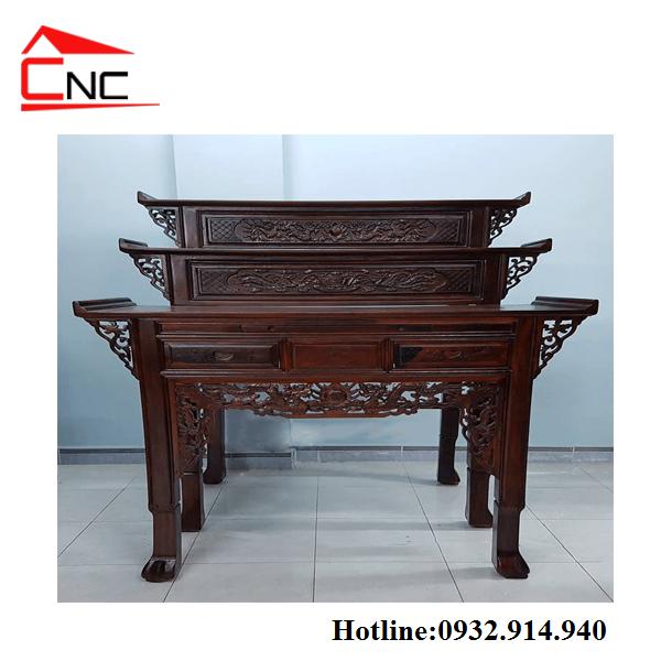 Bán bàn thờ gia tiên gỗ muồng mẫu mã đẹp -chất lượng- giá rẻ