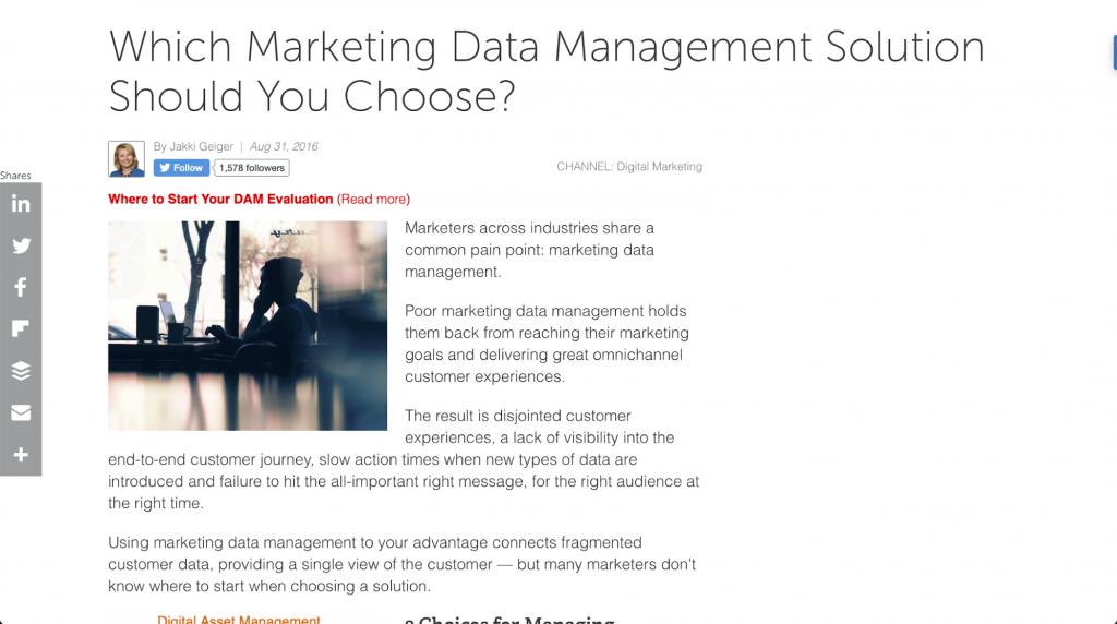 Welche Data–Management–Lösung sollten Sie für das Marketing Ihres Unternehmens wählen? – CMSWire