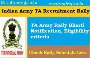 TA Army Rally Bharti 2019