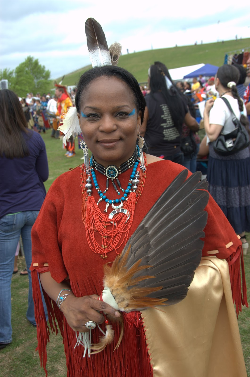 Virginia Beach pow wow - a proud Native woman Veteran - Photo: Vincent Schilling