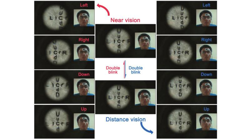Image result for contact lenses that change focus and zoom when you blink