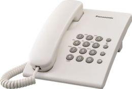 Panasonic - jednolinkový telefon bílý