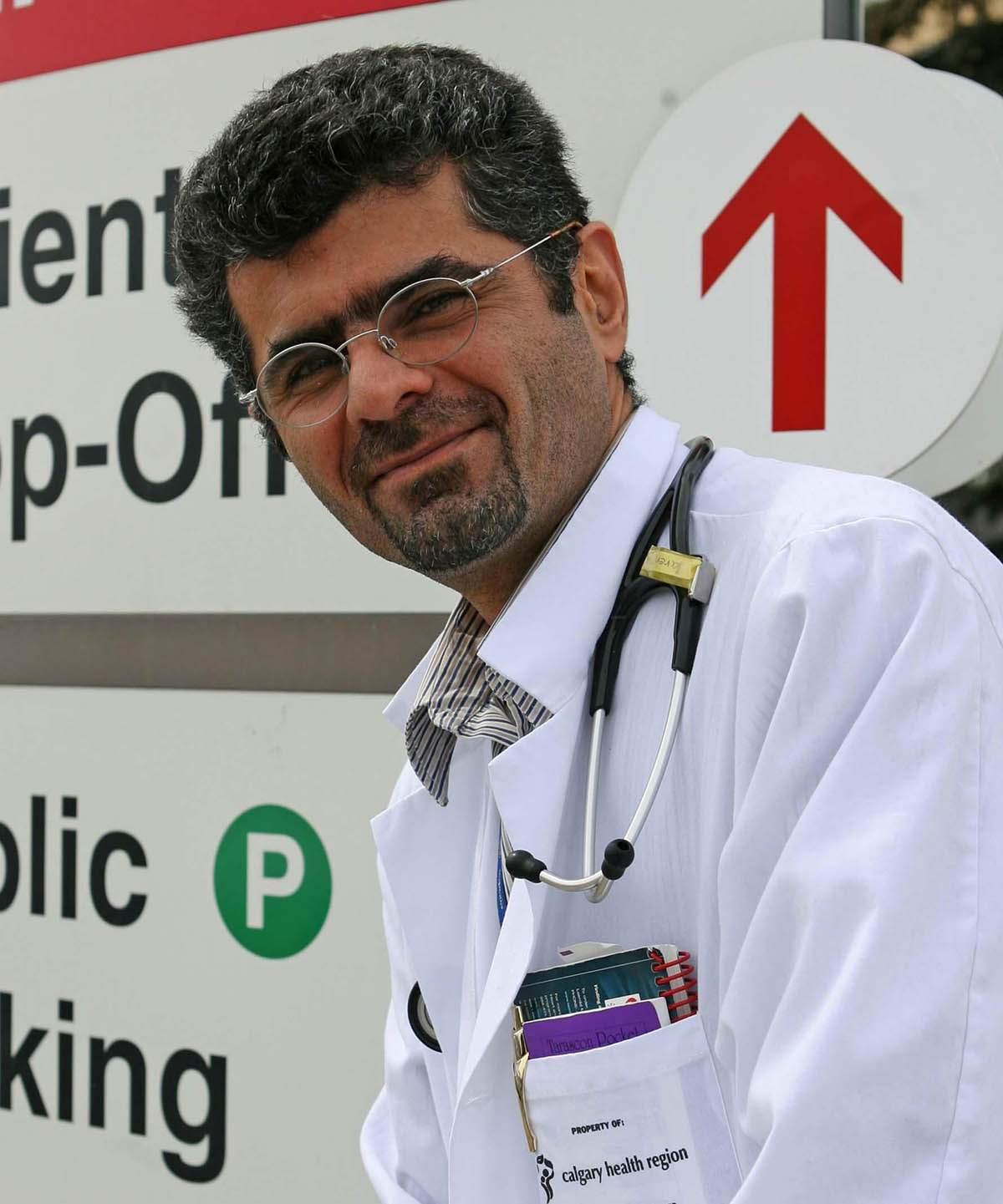 Saren Azer at the Foothills Hospital, Calgary, in 2008.