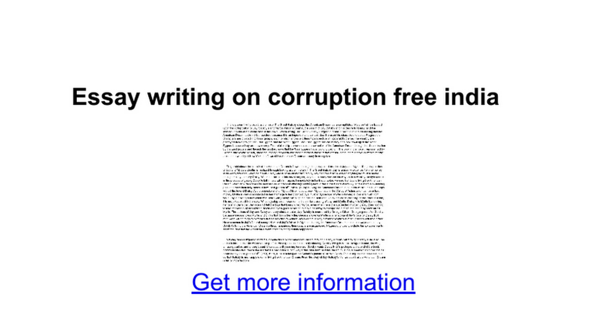 essay on corruption in india