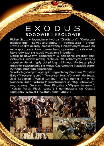 Tył ulotki filmu 'Exodus: Bogowie i Królowie'