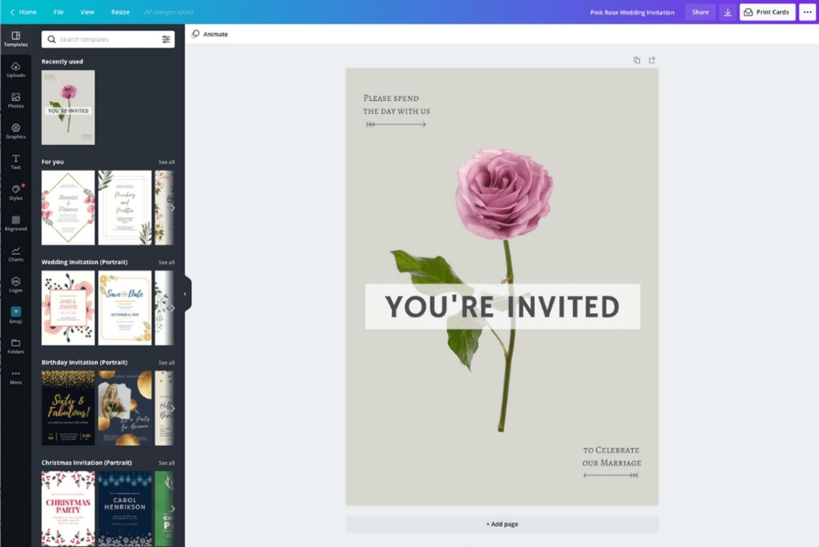 Make invitations more convenient