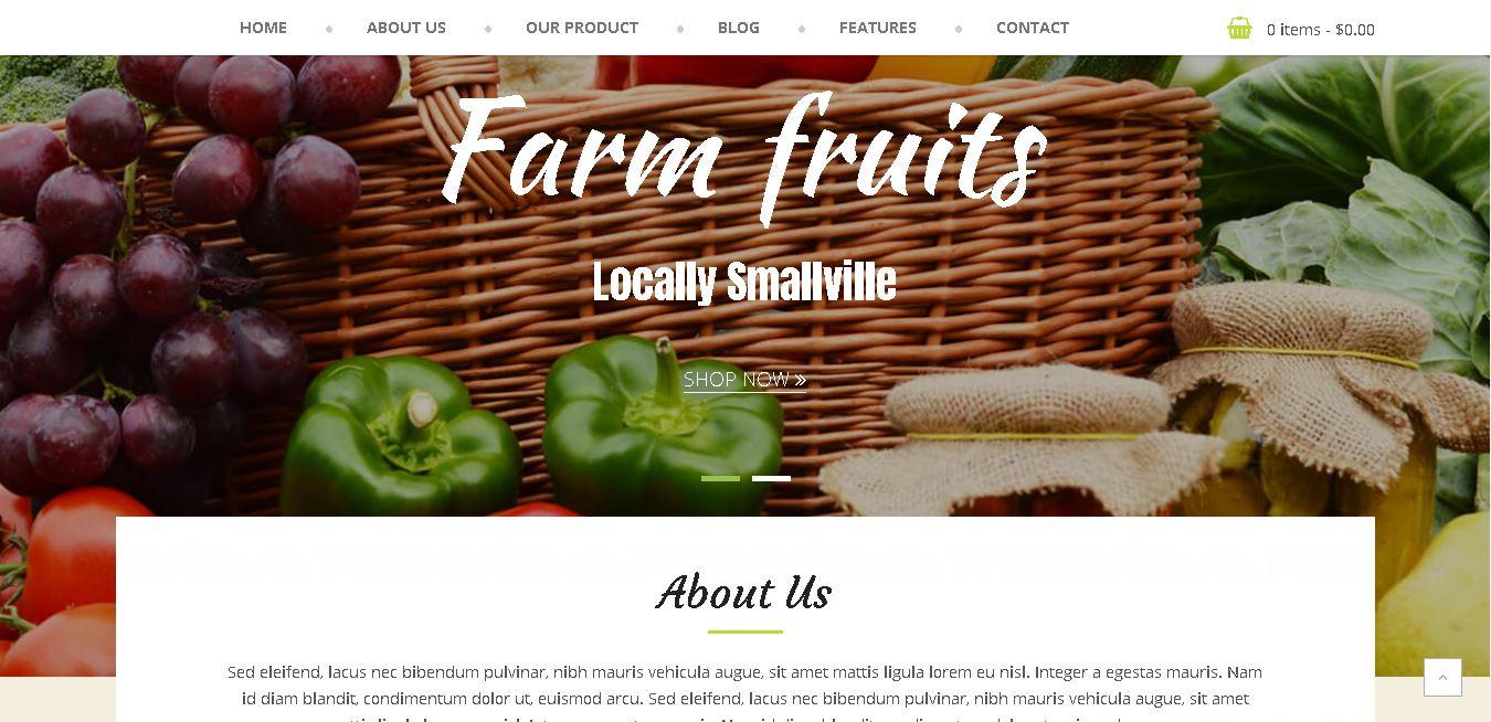 Organic woocommerce themes foodfarm