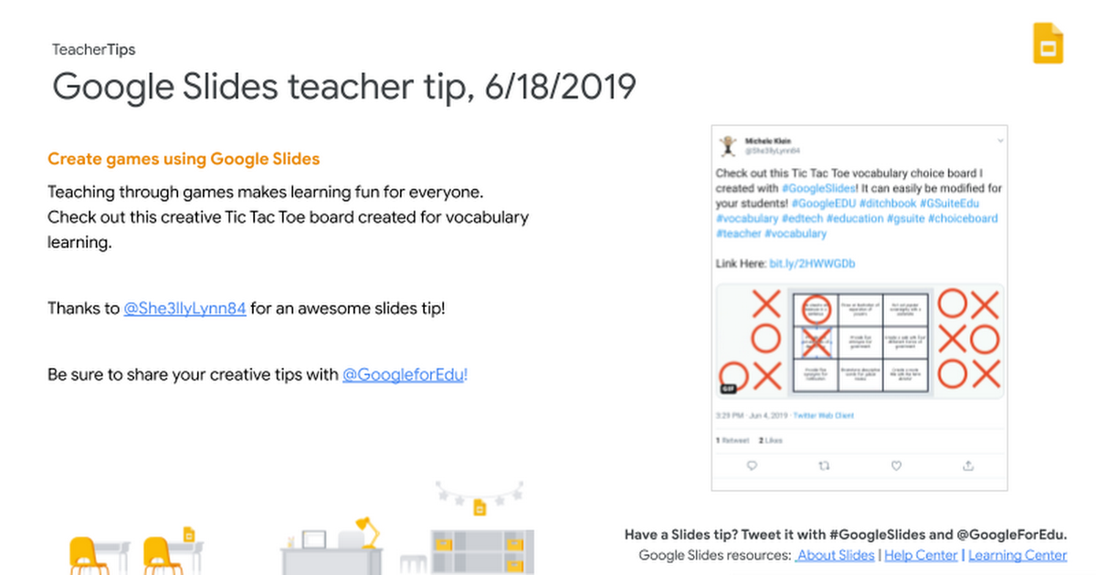 Google for EDU Teacher Tips 2018/2019
