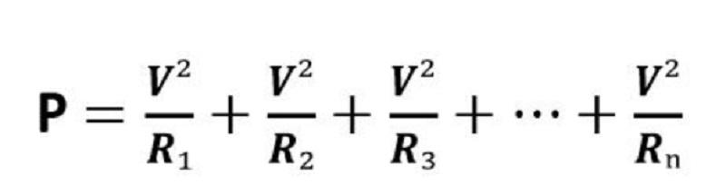 công thức tính công suất trong mạch điện song song