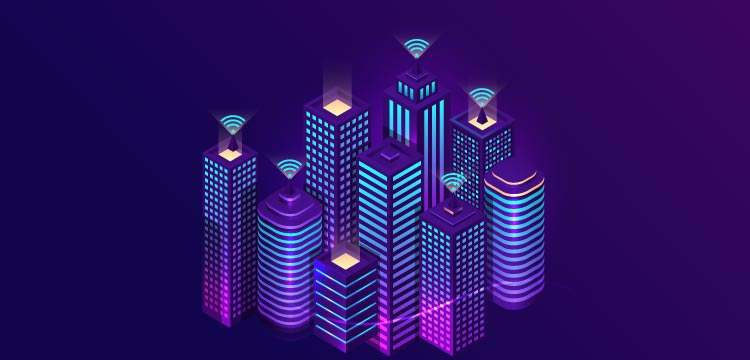 The image shows the glimpse of the smart city constituted with smart homes and appliances that are connected through sensor-networks. Analytics Steps, analyticssteps, analytics