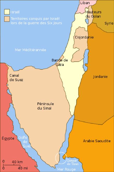Isral et les territoires conquis en 1967