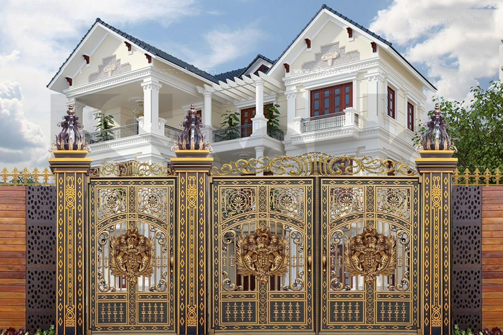 Description: Thi công cổng đồng đúc tại Bắc Giang