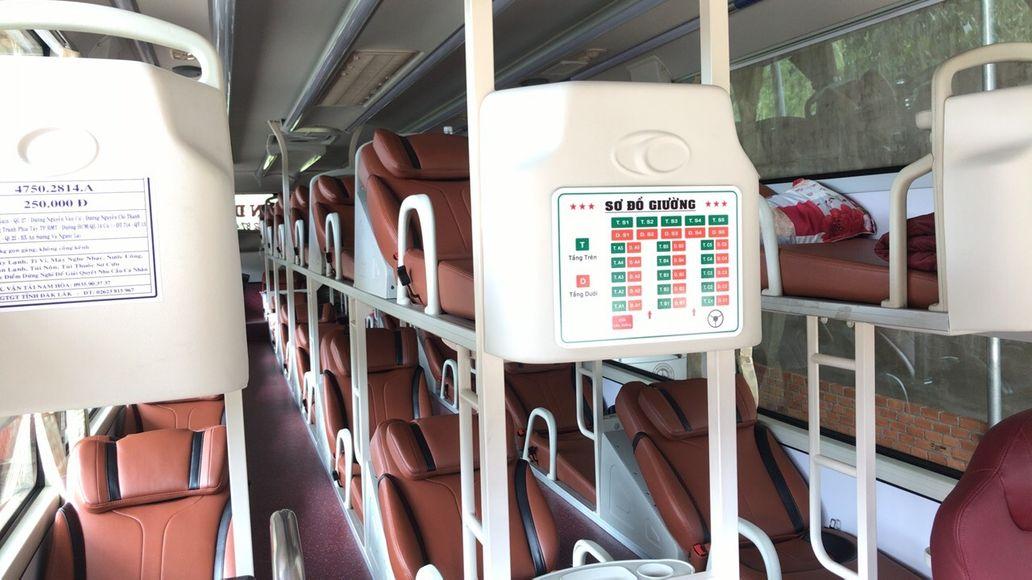 Nội thất xe Nguyên Dịu đi Dak Lak từ Sài Gòn