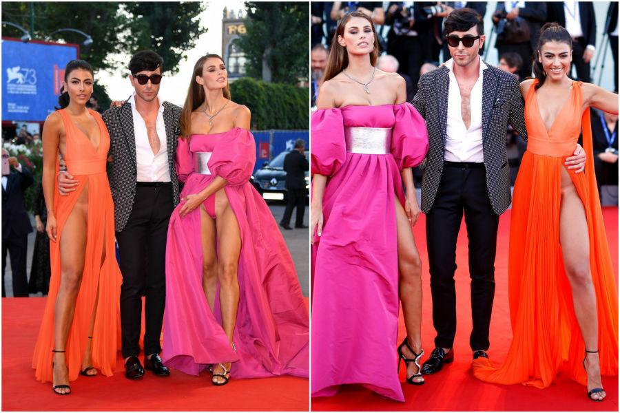 Italian models Giulia Salemi and Matteo Manzini