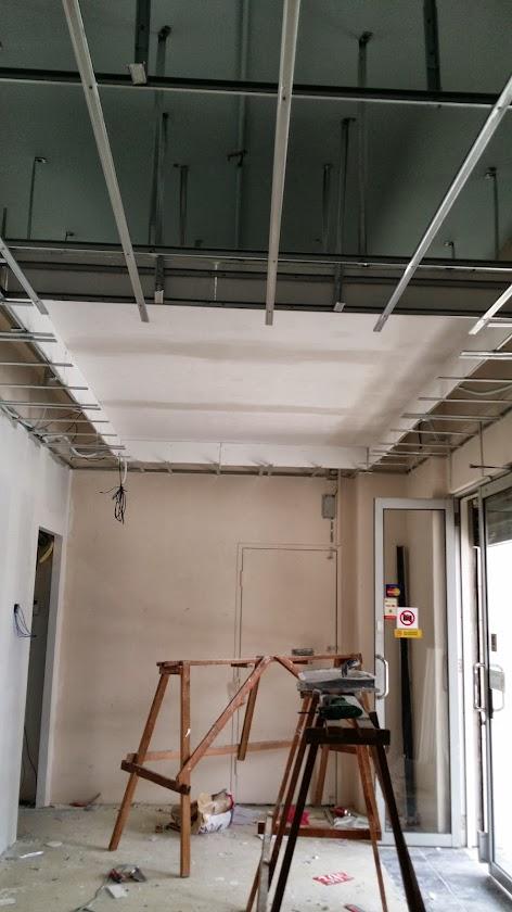 Plaster ceiling board installing