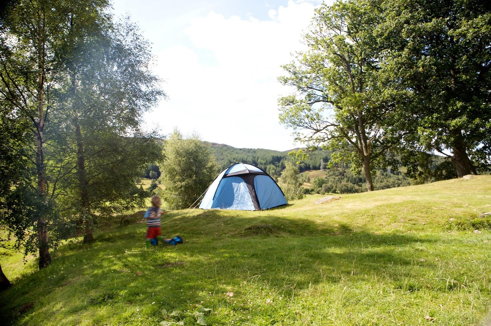 Campersite in Scotland for Campervans