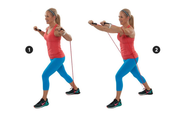 Chest Press with Resistance Band
