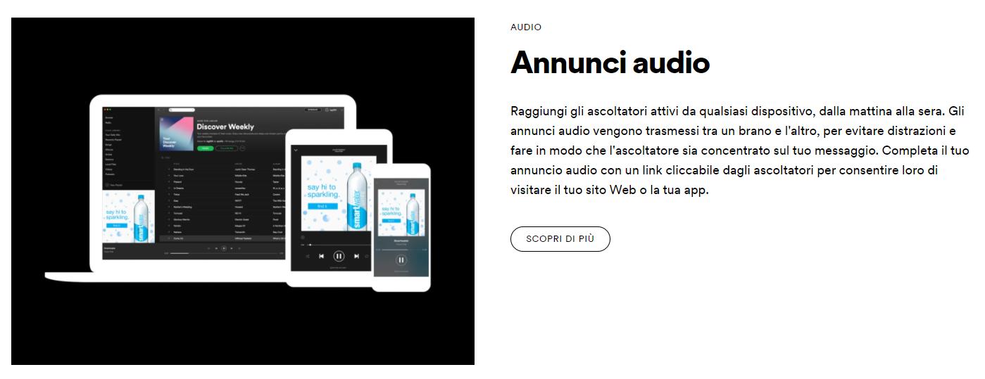 Spotify Ad Studio, la piattaforma pubblicitaria self-service. La scelta degli annunci