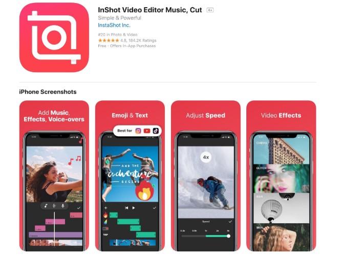 Phần mềm làm phim cho điện thoại Inshot