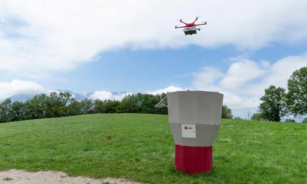 french postal service dpd launching a drone