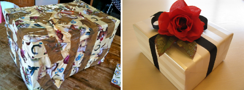 The difference between good and bad gift wrapping