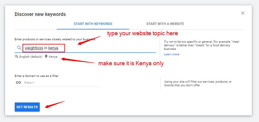 performing keyword research in kenya