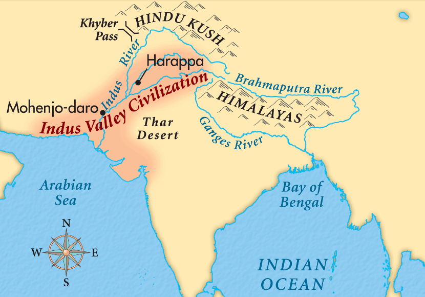 Indus Valley Indus And Ganges Rivers The Land India Lessons