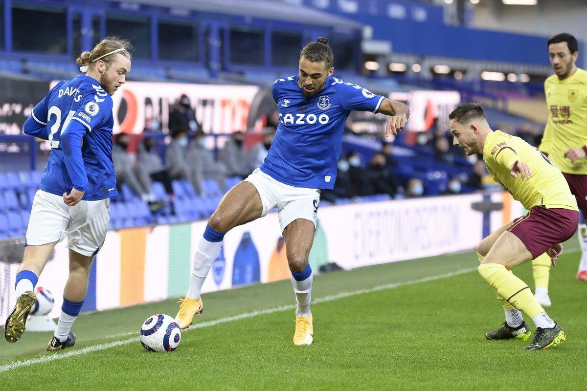 Everton đã thất bại trước Burnley với tỷ số 1-2 ở lần đối đầu gần nhất