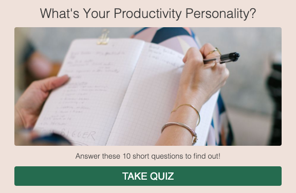 what's your productivity personality quiz cover