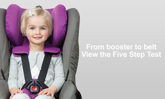 From booster to belt. The Five Step Test .