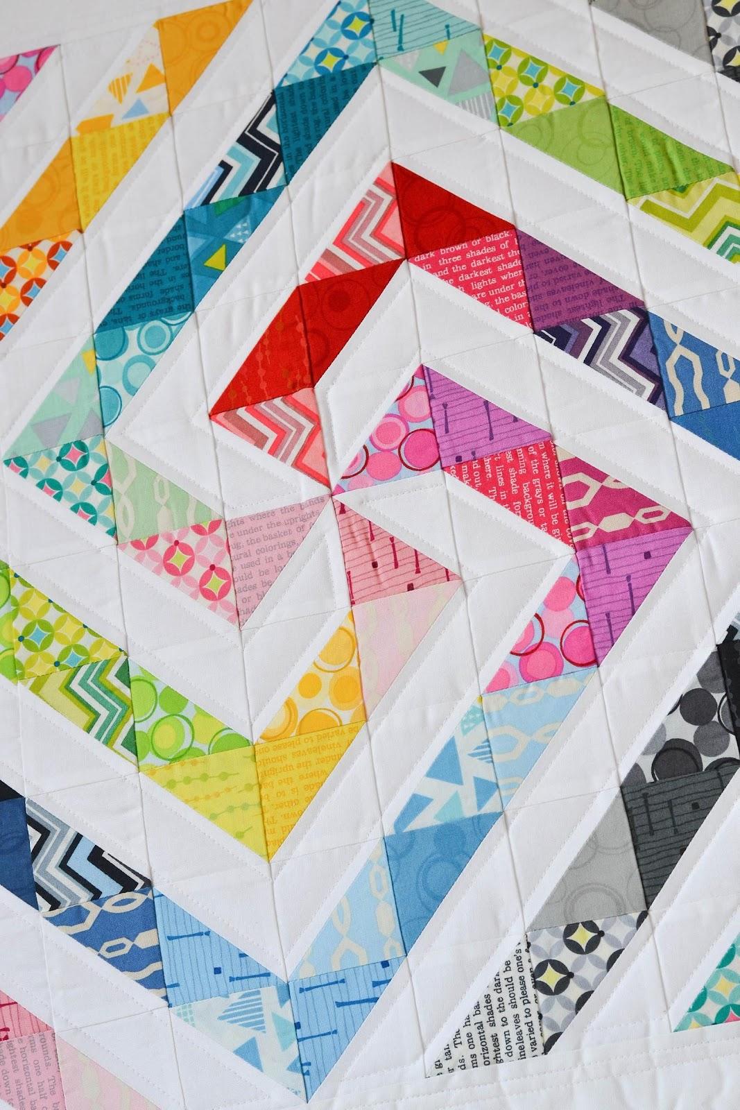 Rainbow Swirl Mini Quilt