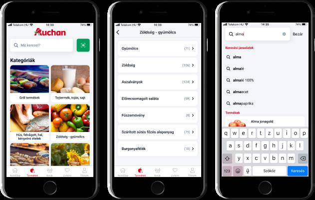 Átalakult az Auchan mobil alkalmazás: új design, korszerűbb funkciók