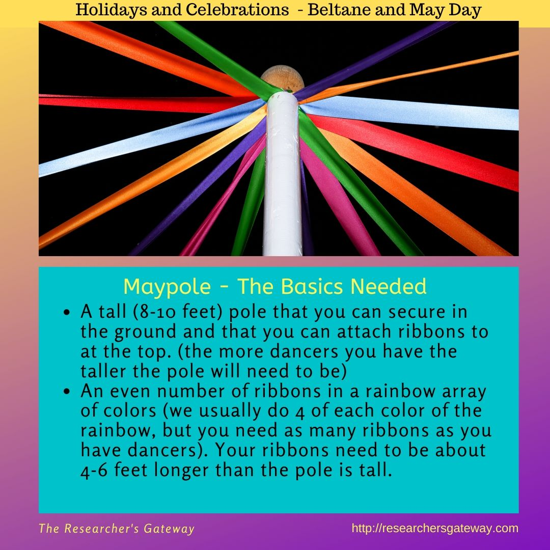 The basics needed for making your own Maypole