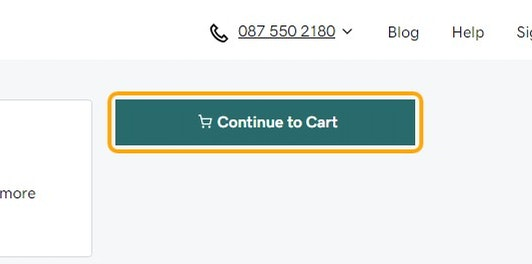 Click on Continue to Cart