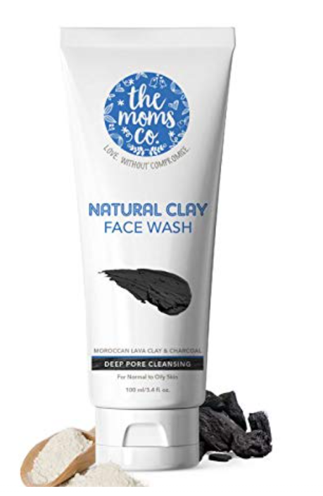 Face Wash For Natural Glow - The Moms Co. Natural Clay Face Wash