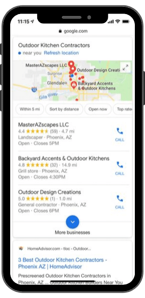 "Voice Search-""Hey Google, Find an Outdoor Kitchen Contractor Near Me"""