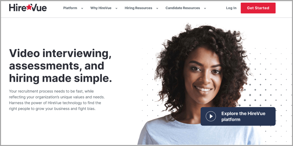 hirevue homepage