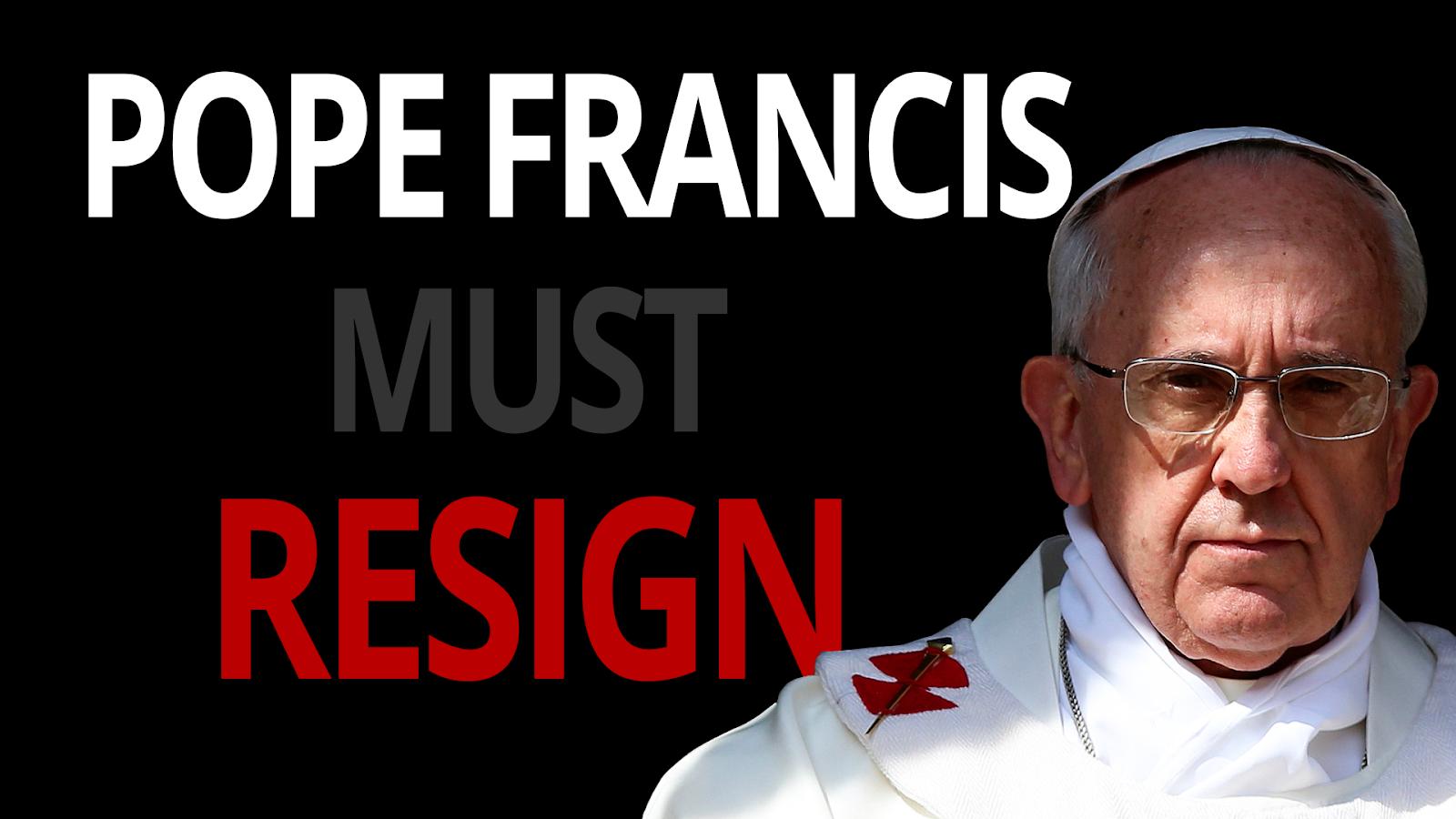 Billedresultat for pope francis to resign