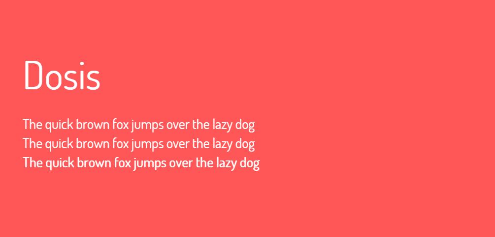 Dosis font