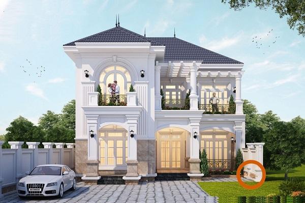 Mẫu biệt thự 2 tầng phong cách cổ điển