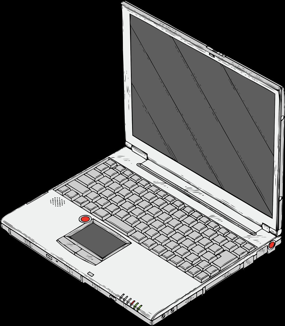 Laptop   Free Stock Photo   Illustration of a laptop computer ...